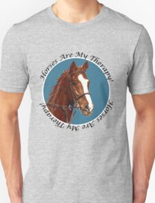 Horses Are My Therapy! T-Shirts & Hoodies Unisex T-Shirt