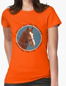 Horses Are My Therapy! T-Shirts & Hoodies Womens Fitted T-Shirt