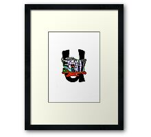 Only U can Stop the Flood Framed Print