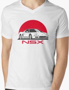Honda NSX (white red) Mens V-Neck T-Shirt
