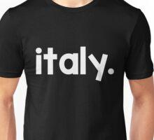 Italy Font White Unisex T-Shirt