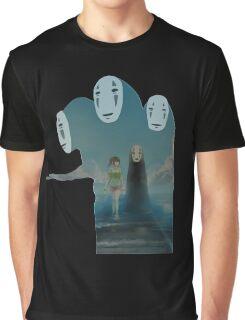 Kaonashi And Ogino Chihiro Spirited Away | Sen To Chihiro No Kamikakushi Graphic T-Shirt