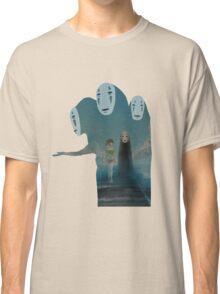 Kaonashi And Ogino Chihiro Spirited Away | Sen To Chihiro No Kamikakushi Classic T-Shirt