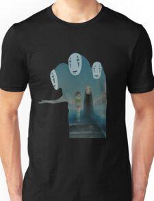 Kaonashi And Ogino Chihiro Spirited Away   Sen To Chihiro No Kamikakushi Unisex T-Shirt