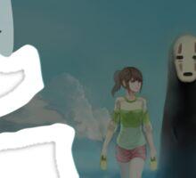 Kaonashi And Ogino Chihiro Spirited Away | Sen To Chihiro No Kamikakushi Sticker