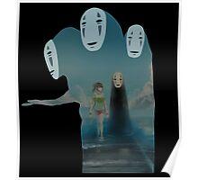 Kaonashi And Ogino Chihiro Spirited Away | Sen To Chihiro No Kamikakushi Poster