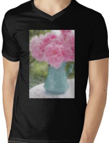 Pitcher of Peonies Mens V-Neck T-Shirt