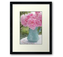 Pitcher of Peonies Framed Print
