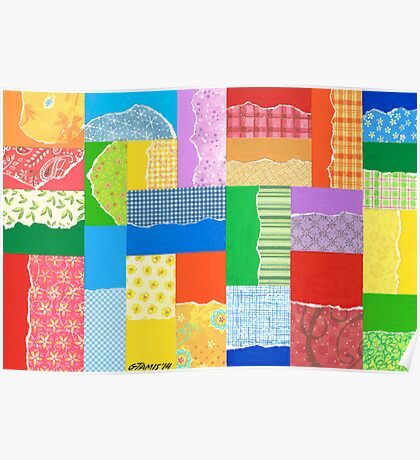 PATCHWORK CARPET ARTWORK Poster