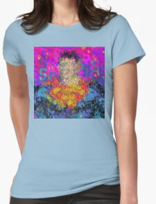Superheros Type Font Series - Abstract Super Pop Art Comic Womens Fitted T-Shirt