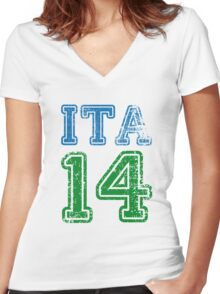ITALY 2014 Women's Fitted V-Neck T-Shirt