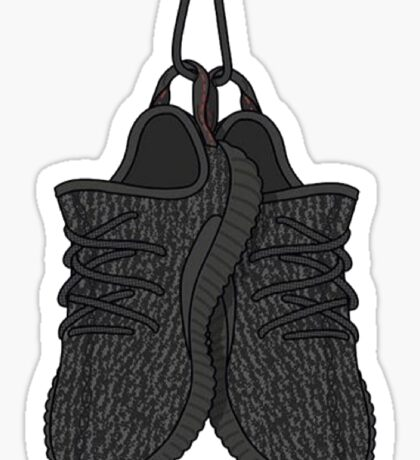 Yeezy Boost 350 Pirate Black Sticker Sticker