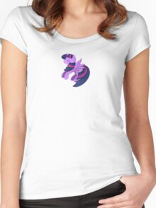 Minimalist Twilight Women's Fitted Scoop T-Shirt