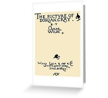 Picture of Dorian Gray 1809 Cover Greeting Card