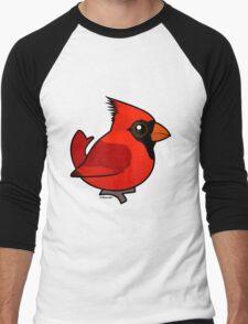Birdorable Northern Cardinal Men's Baseball ¾ T-Shirt