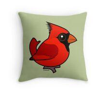 Birdorable Northern Cardinal Throw Pillow