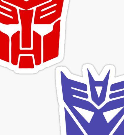 Transformers checkered insignia Sticker