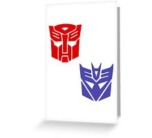 Transformers checkered insignia Greeting Card