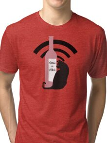 Nerds with Wine Icon Tri-blend T-Shirt