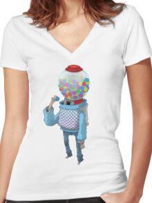 Bubblegum Machine Women's Fitted V-Neck T-Shirt