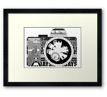 camera - holiday snaps Framed Print