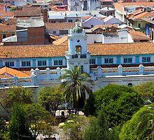 Old Cathedral In Cuenca Ecuador by Al Bourassa