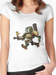 Pixel Bastion Women's Fitted Scoop T-Shirt