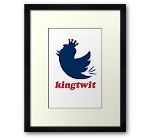 kingtwit. trump 2016 Framed Print