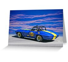 1964 Corvette Vintage Racecar II Greeting Card