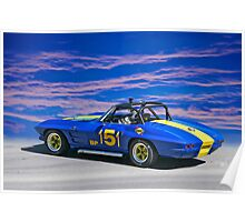 1964 Corvette Vintage Racecar II Poster