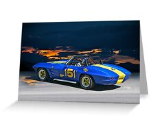 1964 Corvette Vintage Racecar I Greeting Card