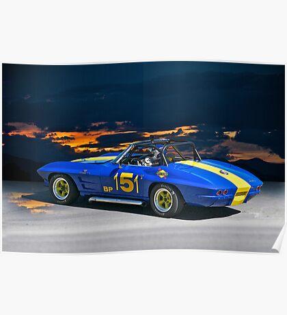 1964 Corvette Vintage Racecar I Poster