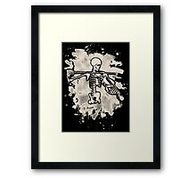 Knochengeiger – bleached creme white Framed Print