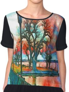 Sunset On The Lake Chiffon Top