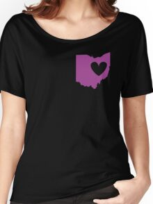 Ohio is Where the Heart is (Purple) Women's Relaxed Fit T-Shirt