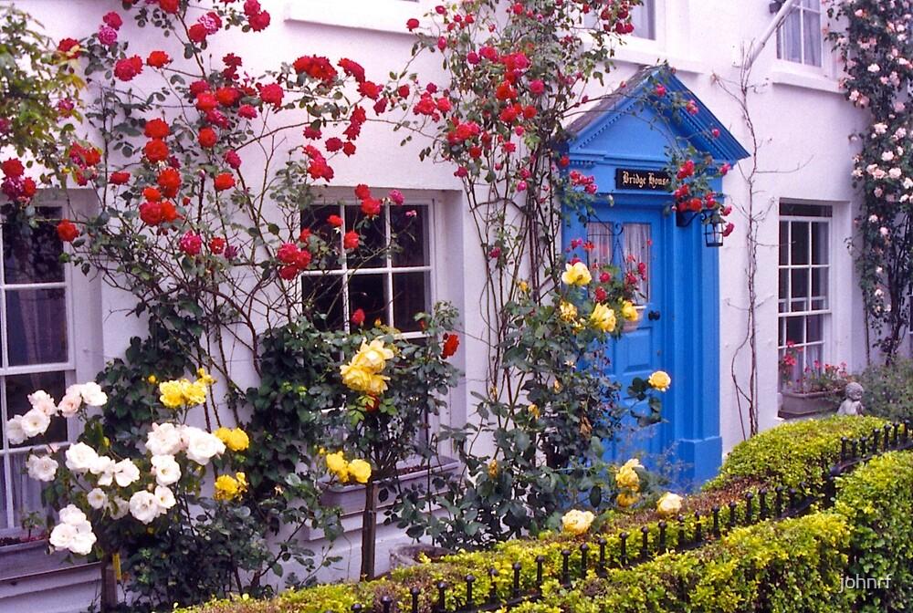 Entrance, English cottage, roses. UK by johnrf