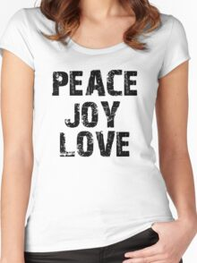 Peace Joy Love Women's Fitted Scoop T-Shirt