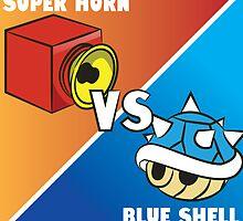 Super horn vs Blue Shell 2 by Lauramazing