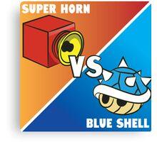 Super horn vs Blue Shell 2 Canvas Print