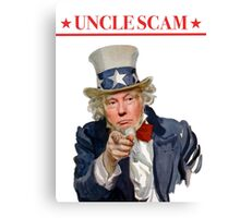 Donald Trump is Uncle Scam! Canvas Print