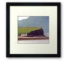 Cottages, Ring of Kerry, Ireland Framed Print