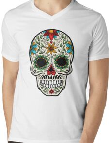 skull face Mens V-Neck T-Shirt