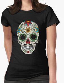 skull face Womens Fitted T-Shirt