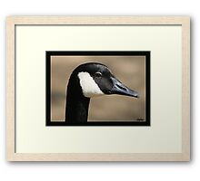 WHAT DOES THE GOOSE THINK ABOUT IT? Framed Print
