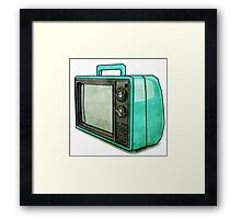 Retro Relic TV Pop Art Digital Graphic Modern Simple Framed Print