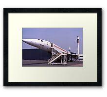 Concorde grounded. France.  Framed Print