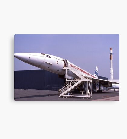 Concorde grounded. France.  Canvas Print