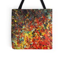 END OF THE RAINBOW - Bold Multicolor Abstract BC Colorful Nature Inspired Sunrise Sunset Ocean Beach Theme Tote Bag
