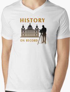 History On Record Mens V-Neck T-Shirt