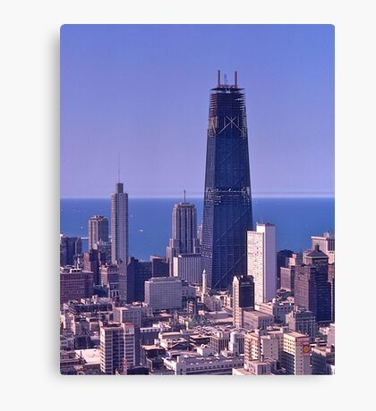 Chicago Skyline, 1968, John Hancock Centre. Canvas Print
